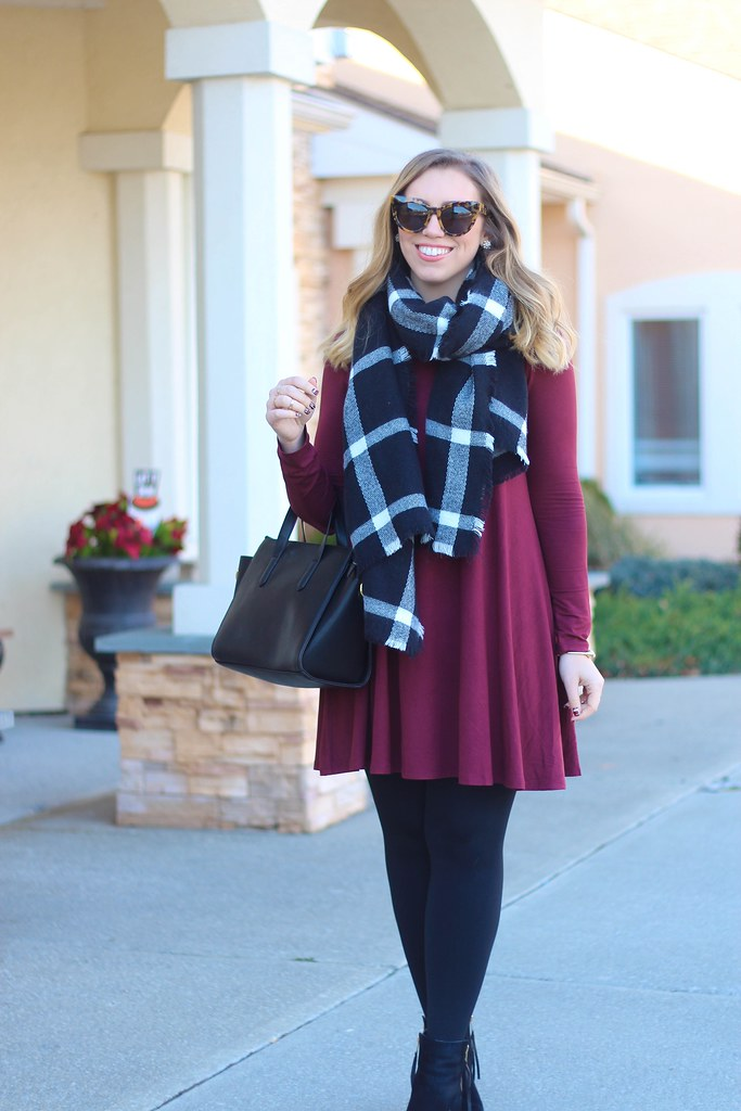 Berry Holiday Casual Outfit with Old Navy