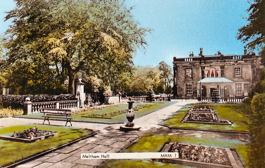Undated postcard of Meltham Hall.