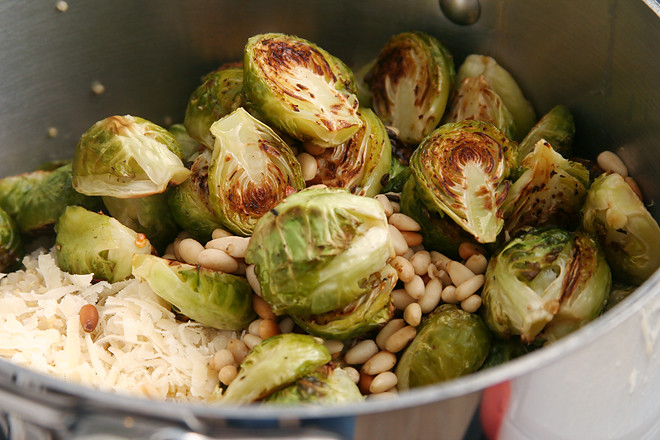 quinoa brussels sprouts pine nuts 3