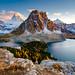 Mount Assiniboine & Sunburst Peak from Nub Peak by earl.dieta
