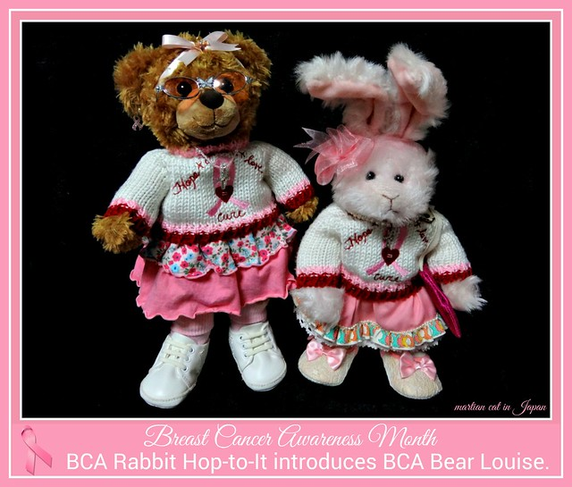 BCA Rabbit Hop-to-It introduces BCA Bear Louise.