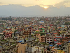 View of Kathmandu, Nepal (from the Summit Residency Airport Hotel)