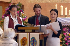 The Trio Singers in Mother Cabrini's Mass