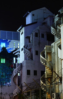Stairs at night