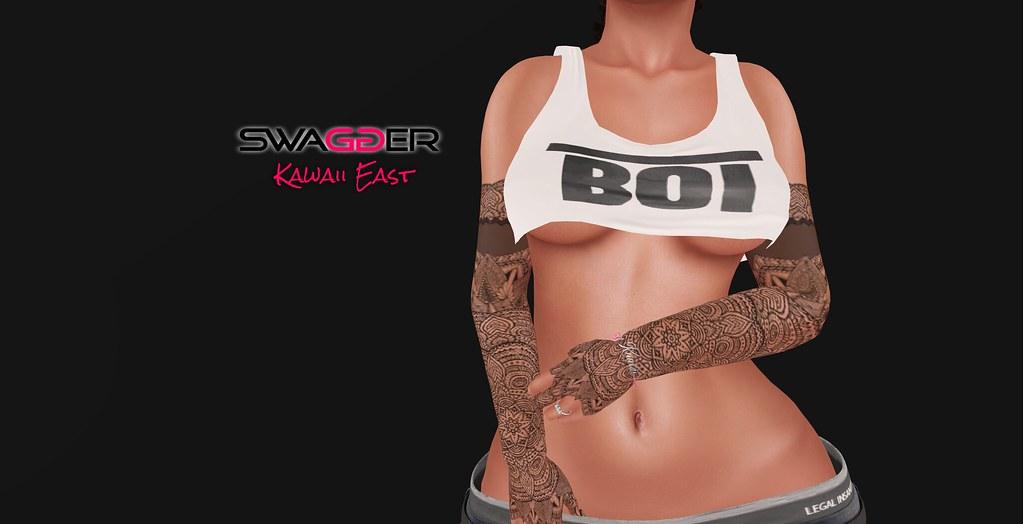 .:Swagger:. Boi Crop Tee White - SecondLifeHub.com