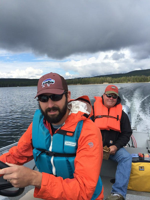 Andy and Dave on Yellowstone Lake
