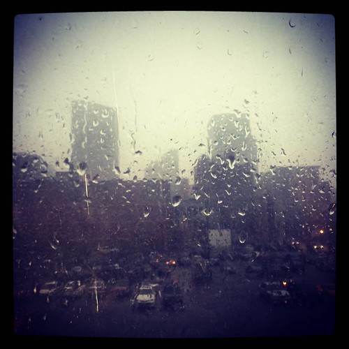 Thunderstorming in downtown Cincinnati.