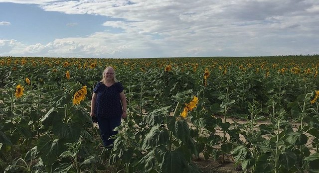 Lisa in Sunflowers