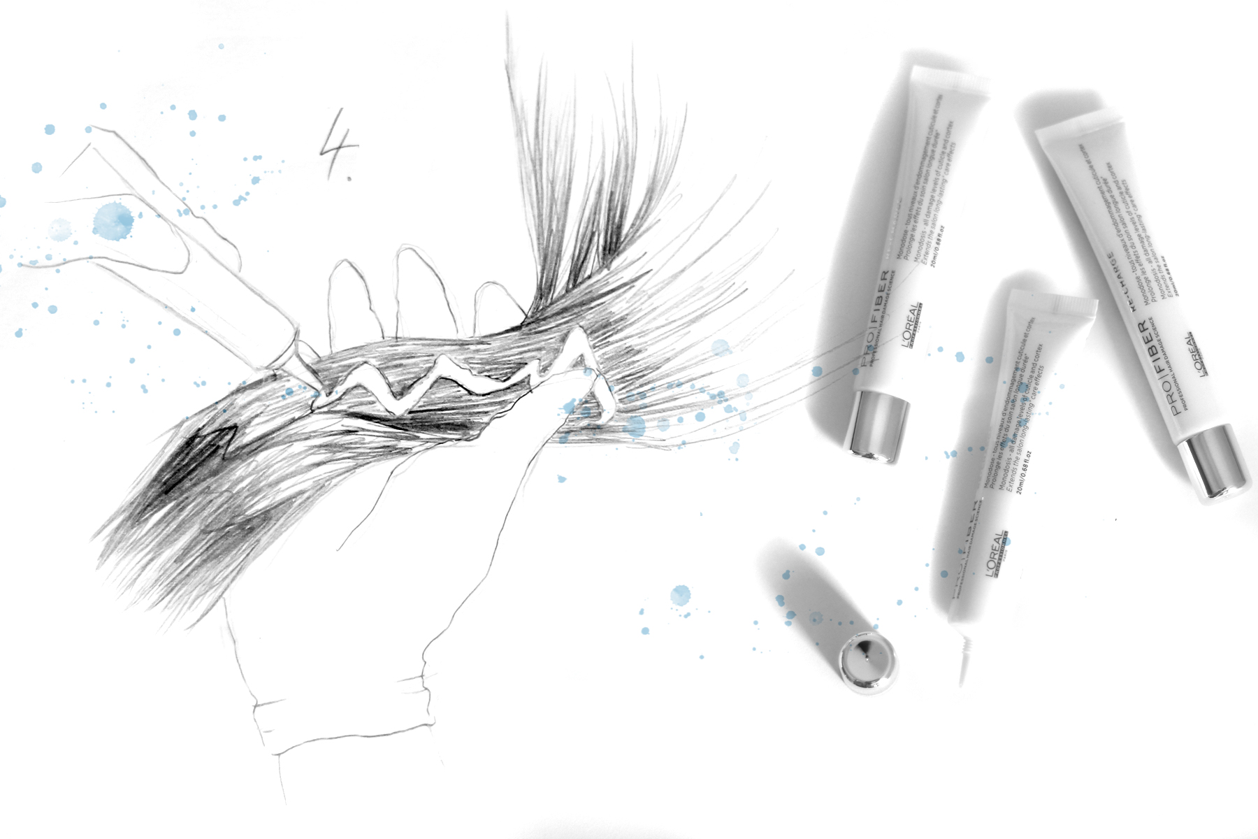 pro fiber l'oréal professionel hair treatment neue pflegerevolution beauty beautyblogger düsseldorf ricarda schernus blog illustration drawing art cats & dogs berlin 2