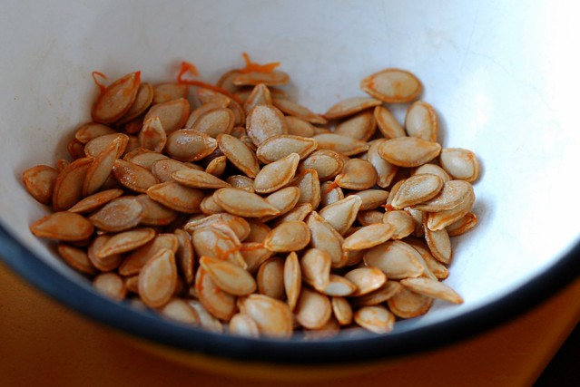 Butternut squash seeds by Eve Fox, Garden of Eating blog, copyright 2013