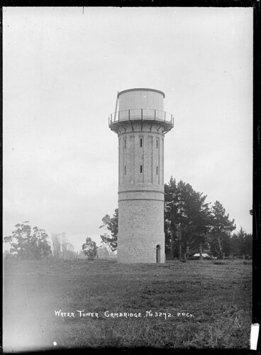 View of the Water Tower at Cambridge. Photographed...