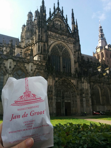 tasty treat in front of St John's Cathedral