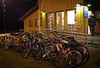 Bikes of the Syrian refugees that made it to the Norwegian boarder (this is in front of passport control)