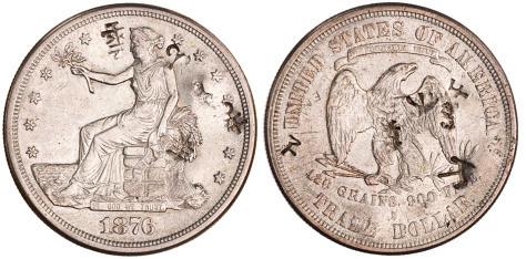 Chopmarked Trade Dollar ANS 1937.179.669