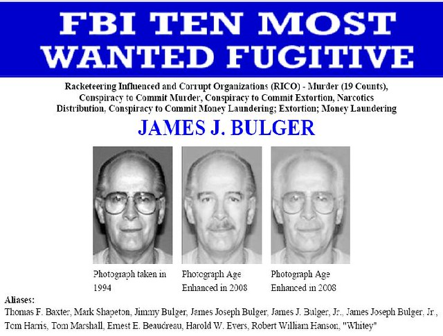 Bulger FBI Wanted Poster