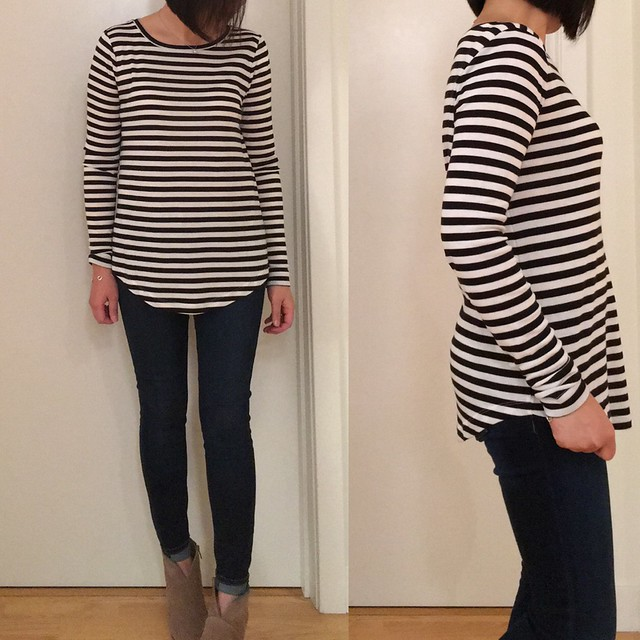 LOFT Striped Long Sleeve Tee, size S