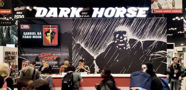 Two Brothers signing at the Dark Horse booth - NYCC