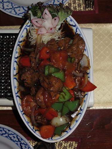 Ped Tau Hu Pad Prik (Tofu-Ente im Restaurant Sawadee)