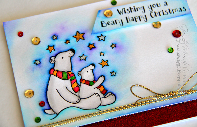 Beary Christmas card closeup1