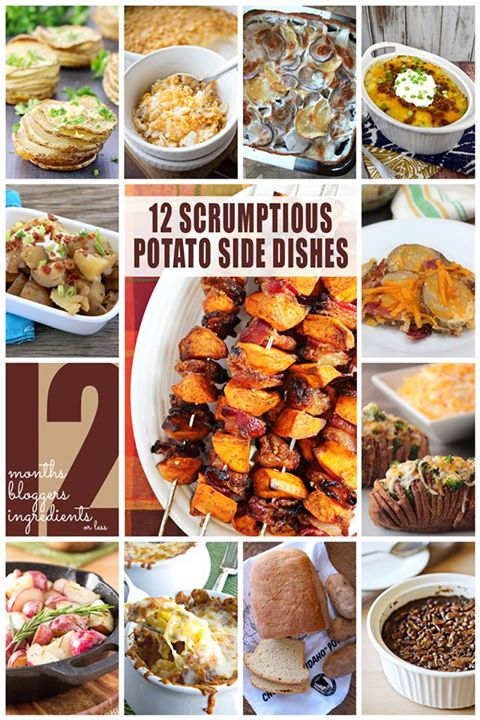 12 Scrumptious Potato Side Dishes #12bloggers