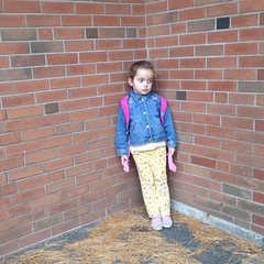 When did she get so big? And that 'tude? #waiting #school #prek4