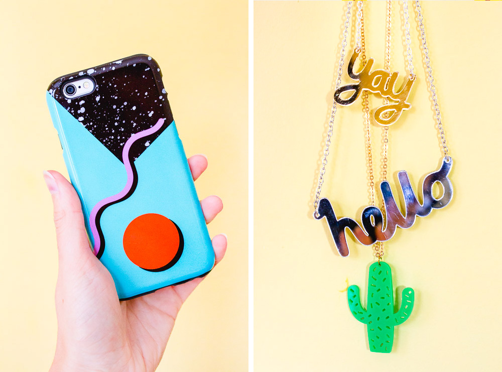 the small print cases phone cover memphis style and acrylic necklaces etsy