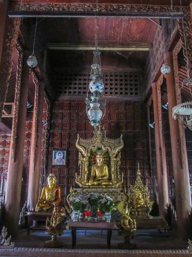 Mandalay: le monastère Shwe In Bin Kyaung