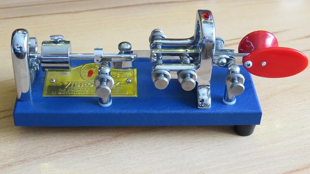 Vibroplex Blue Racer, manufactured 2000,