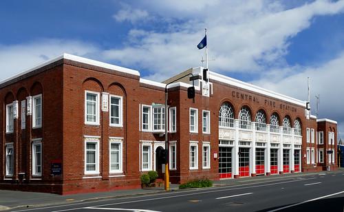 Central Fire Station Dunedin  1930.