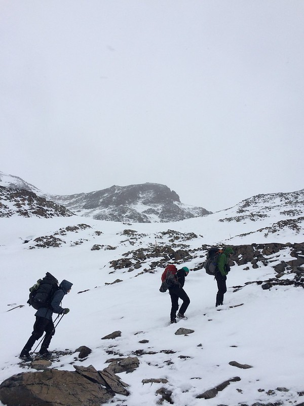 Getting steeper near the top of the pass