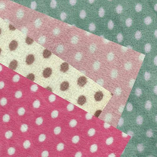 【限宅配】雙面淺粉點點絨 寢具 衣物 嬰兒毛毯肚圍背心 冷氣毯 睡衣睡袍 玩偶 LC790010