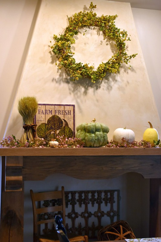 Autumn Dining Room Mantel