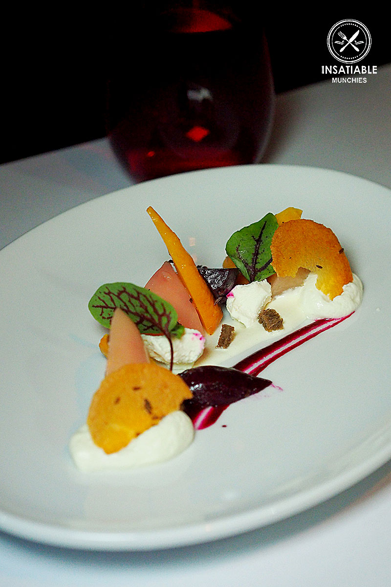 Salad of Baby Beetroot, Goat Cheese Crumble, Beetroot Vinaigrette: Ananas, The Rocks. Sydney Food Blog Review