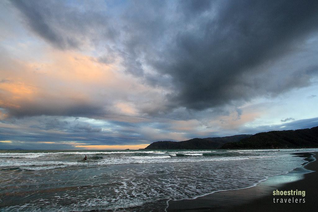 sunset at Sabang Beach