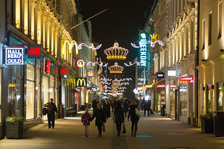 Gothenburg Pedestrian Street at Night