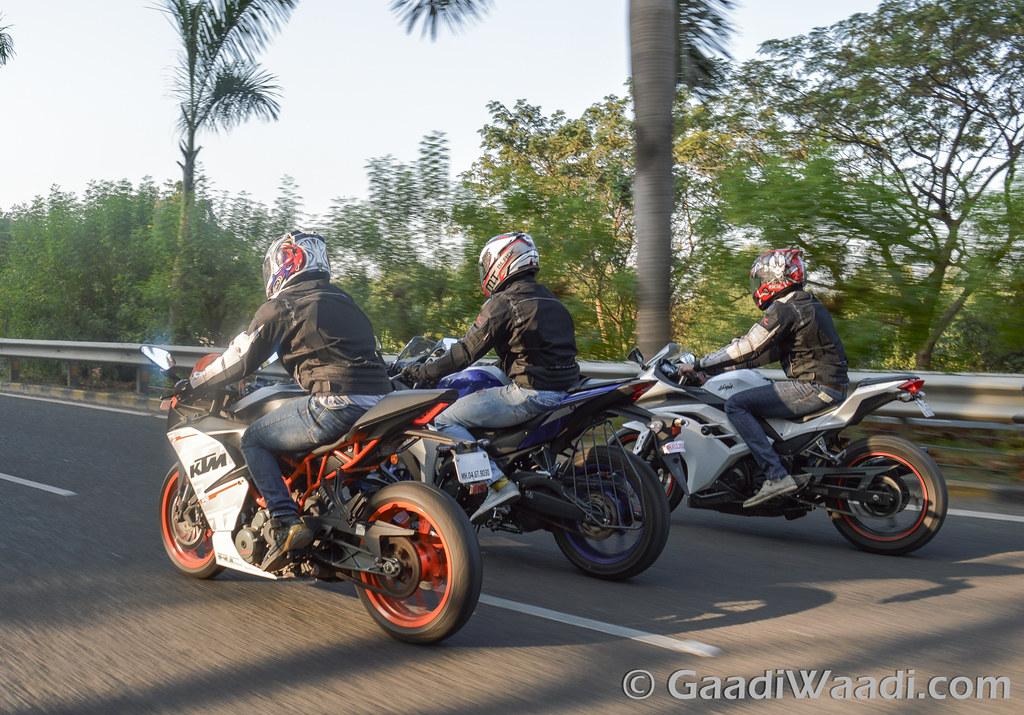 Yamaha R3 vs KTM RC390 vs Kawasaki Ninja300-6