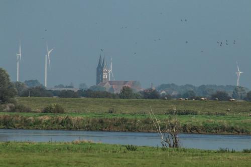 Blick auf Jerichower Kloster von jenseits der Elbe
