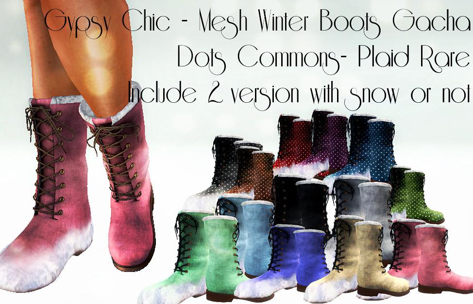 Gypsy Chic- Gacha Boots - SecondLifeHub.com