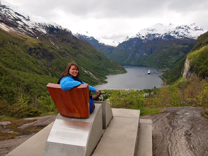 Flydalsjuvet lookout in Geiranger, Norway