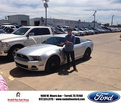 #HappyAnniversary to Betty and your 2014 #Ford #Mustang from Brent Billingsly at Randall Noe Ford!