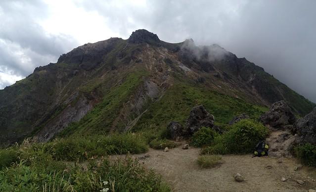 焼岳 中尾温泉ルート 焼岳展望台 山頂遠景 パノラマ