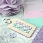 DIY cross stitch keyring