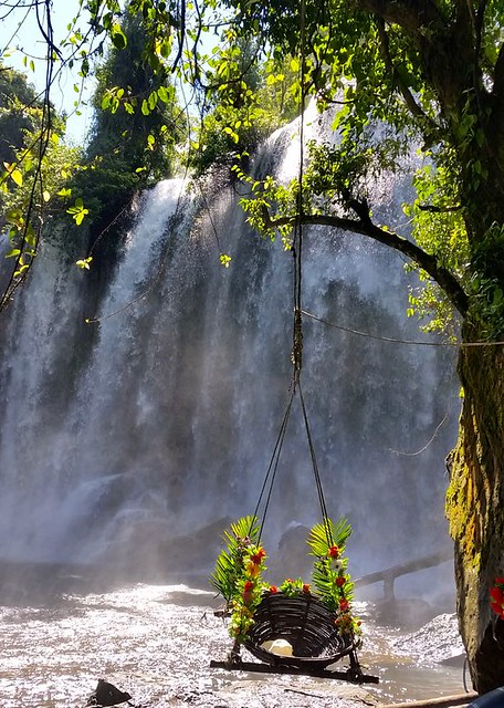 16. Lounge by a waterfall in Cambodia with Blue Osa Journeys
