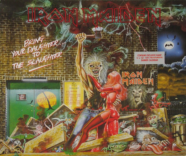 "IRON MAIDEN BRING YOUR DAUGHTER TO THE SLAUGHTER 12"" MAXI-SINGLE + POSTER"