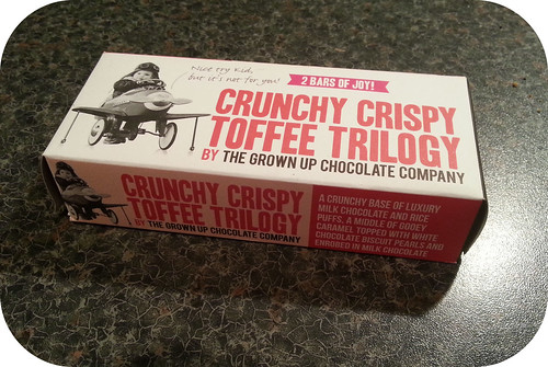The Grown Up Chocolate Company Crunchy Crispy Toffee Trilogy