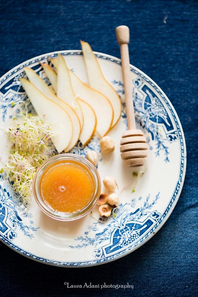 tartellette feta pere  e miele