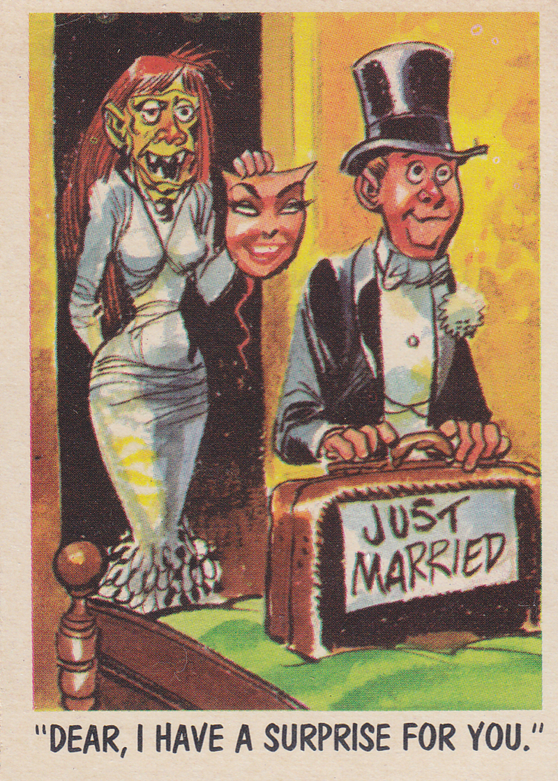 """You'll Die Laughing"" Topps trading cards 1959,  illustrated by Jack Davis (33)"