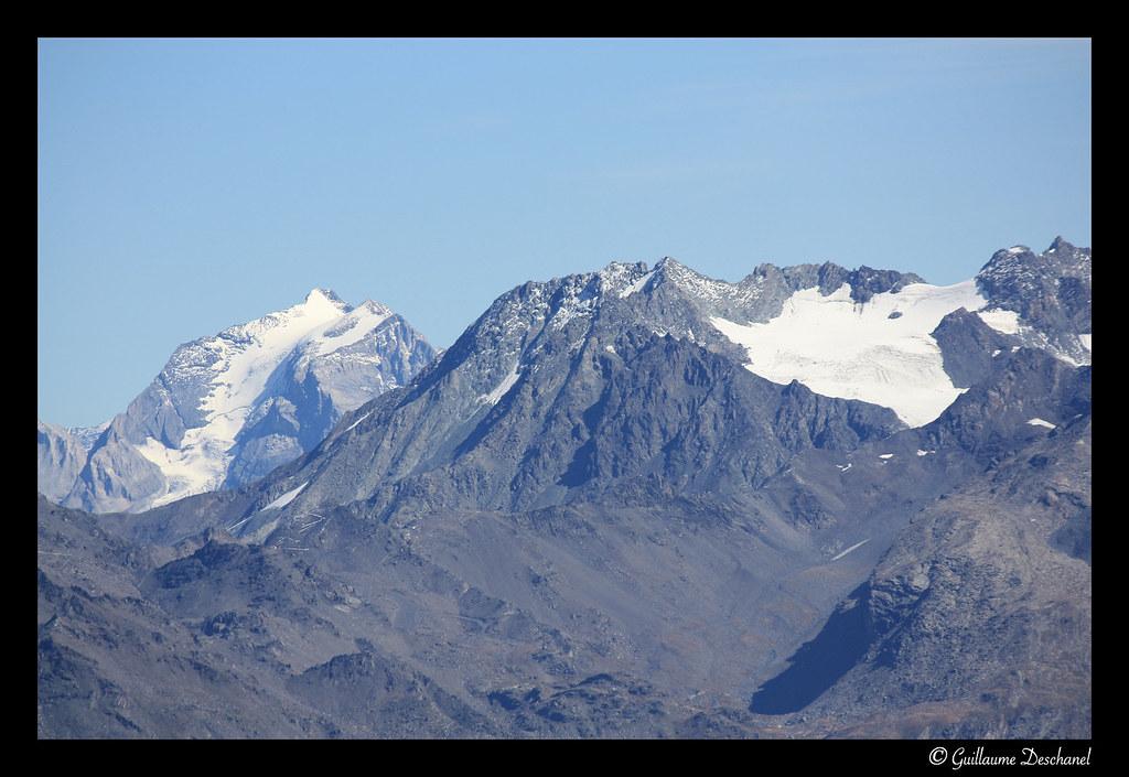 La Grande Casse à gauche, le Glacier de Chavière et Péclet à droite