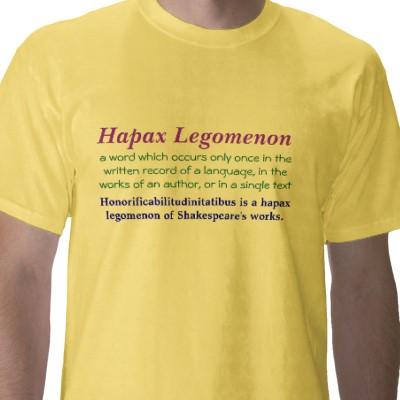 hapax legomenon t-shirt