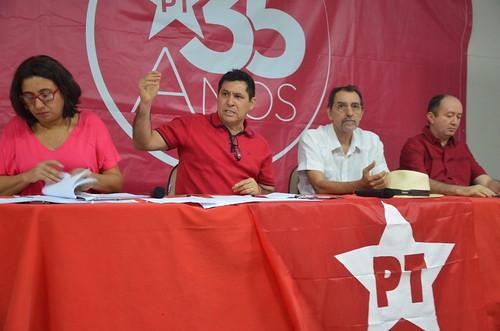 Reunião com novos dirigentes do PT Ceará